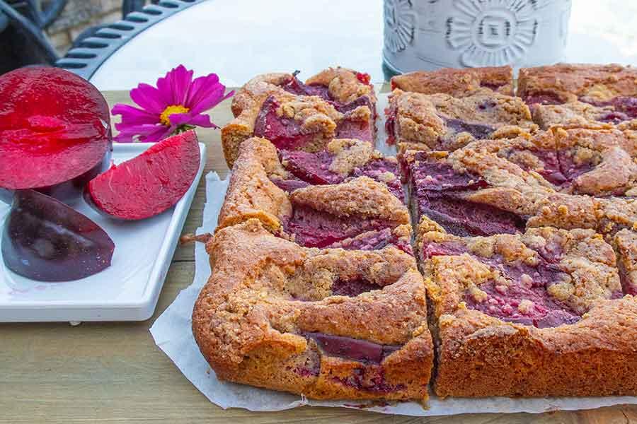 breakfast plum cake, gluten-free