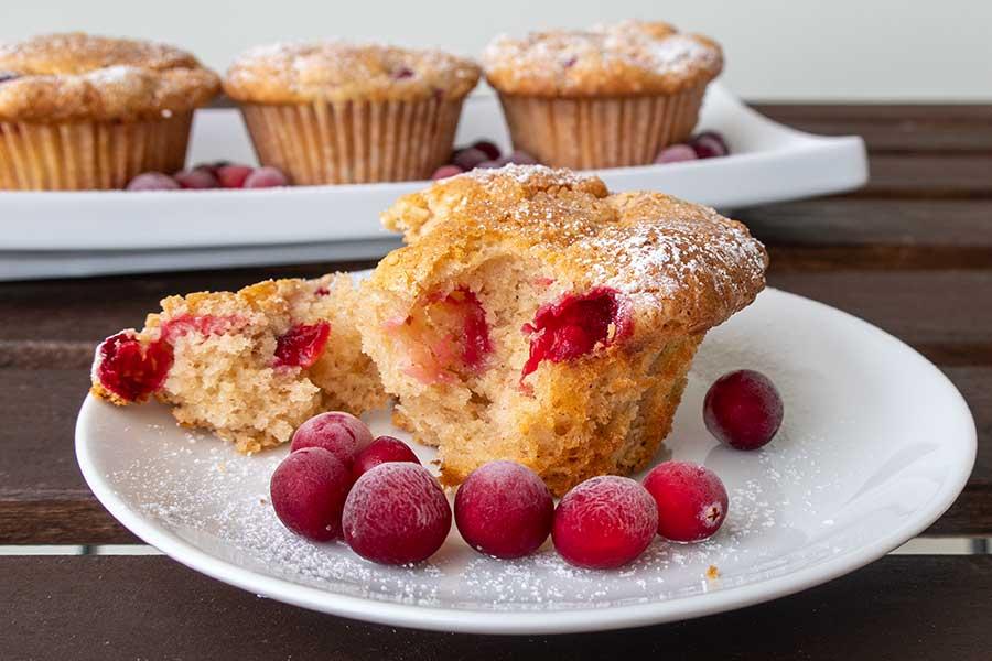 cranberry muffins, gluten free