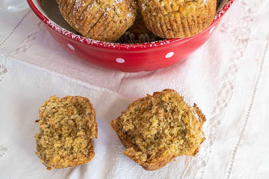 banana carrot muffin, gluten free