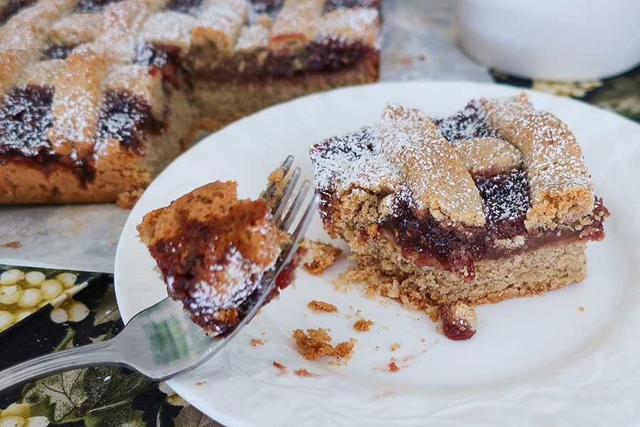 linzer cake, gluten free
