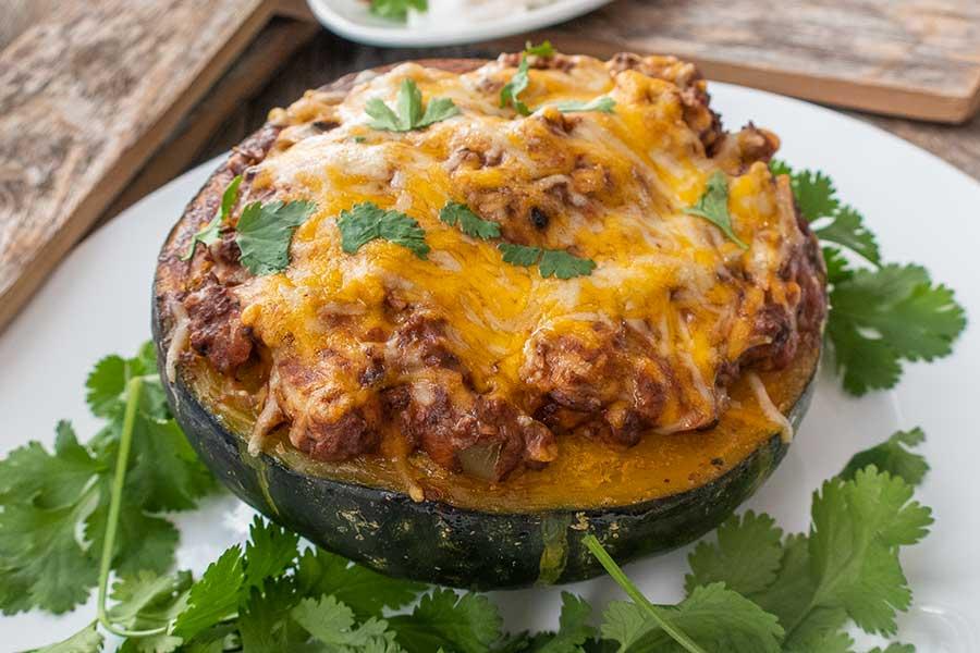 taco stuffed kabocha, low carb
