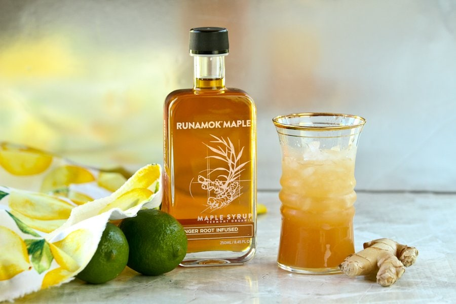 Maple ginger cocktail by Runamok Maple