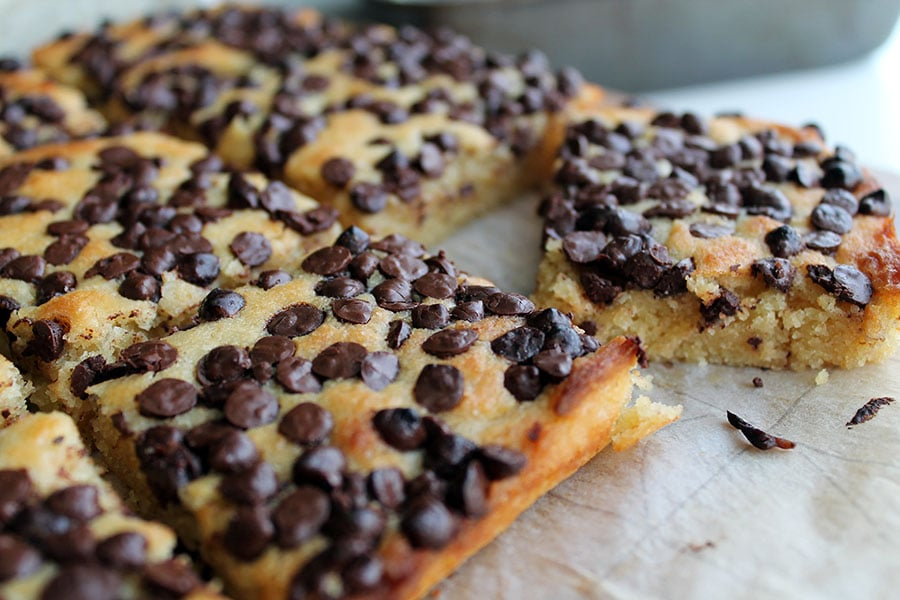 Buttermilk Chocolate Chip Cookie Bars - Egg free