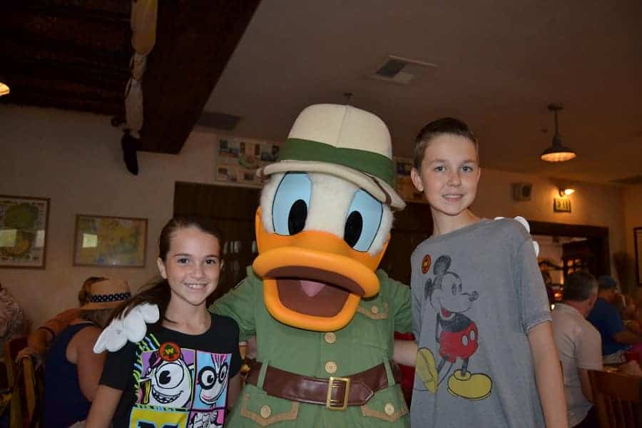 Donald Duck at Tusker House