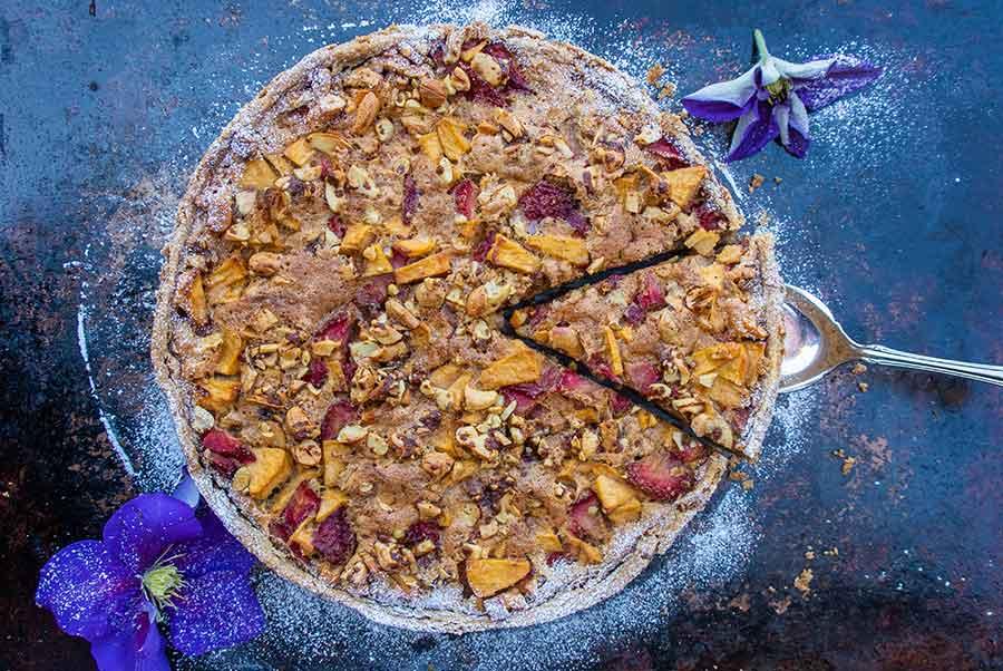 gluten-free strawberry apple cake