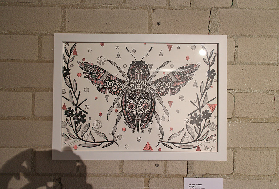 Barnes and Webb Save the Bees Exhibition Jitesh patel illustration