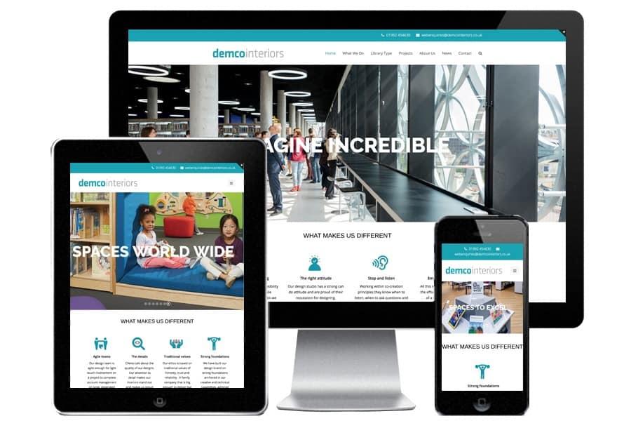 demco website design blue dolphin web site design peterborough