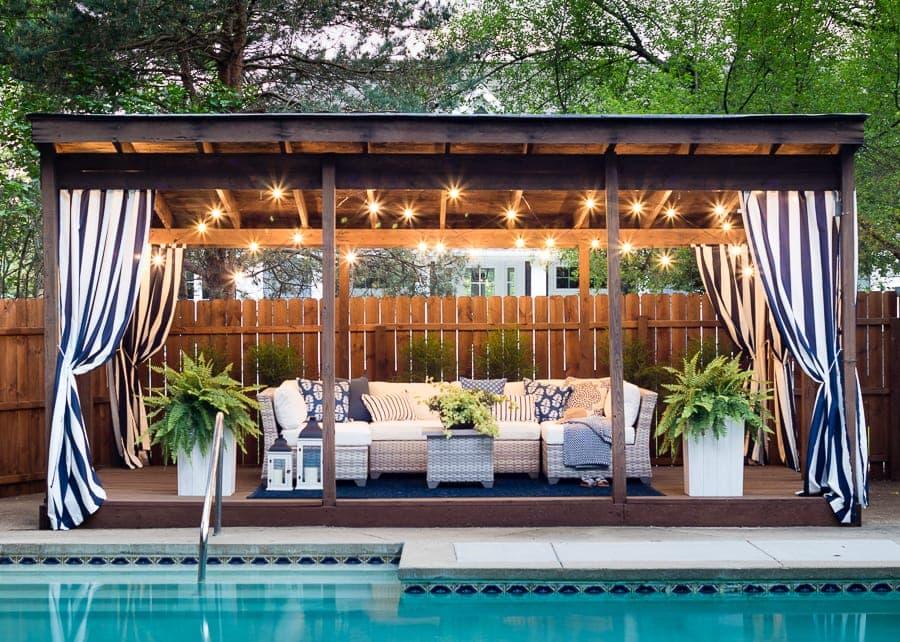 Pool Cabana Makeover
