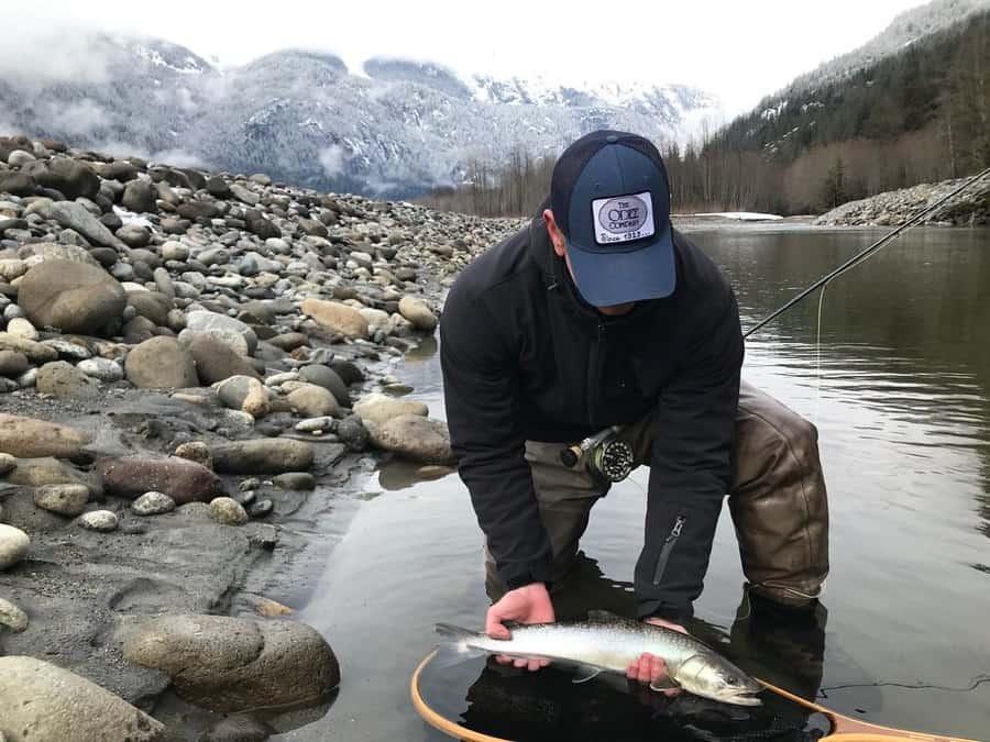 Winter bull trout fishing
