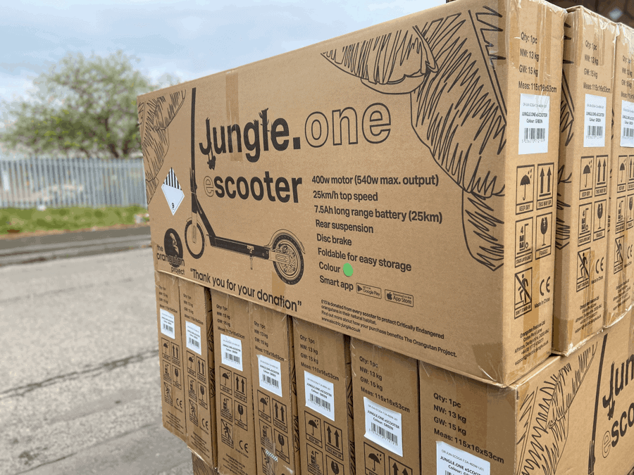 Electric Jungle Escooters ready for the UK