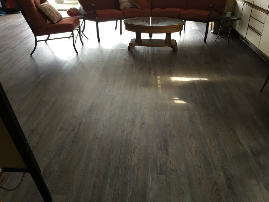 image of silver spruce planks installed