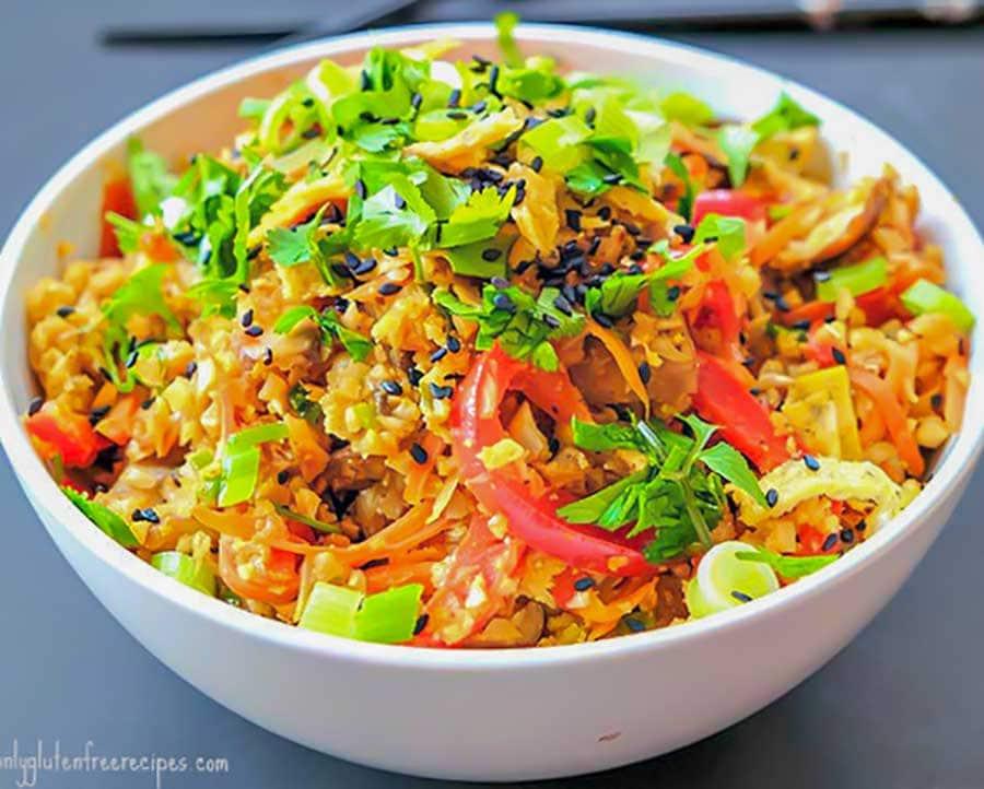 cauliflower rice, low carb