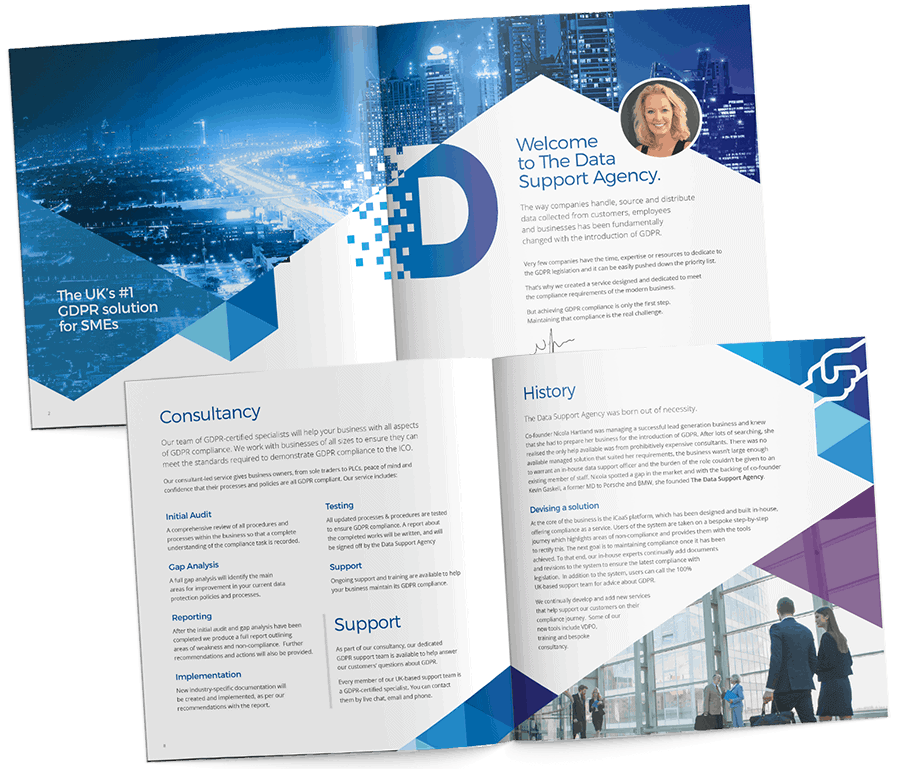 The Data Support Agency brochure interior