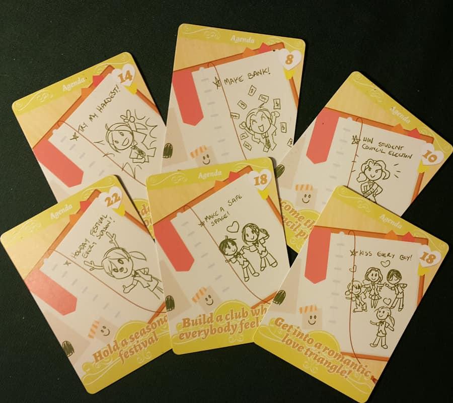 Café Romantica Agenda cards