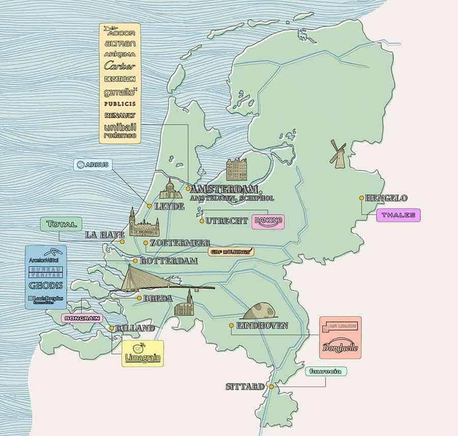 Enjeux Les Echos Holland Map