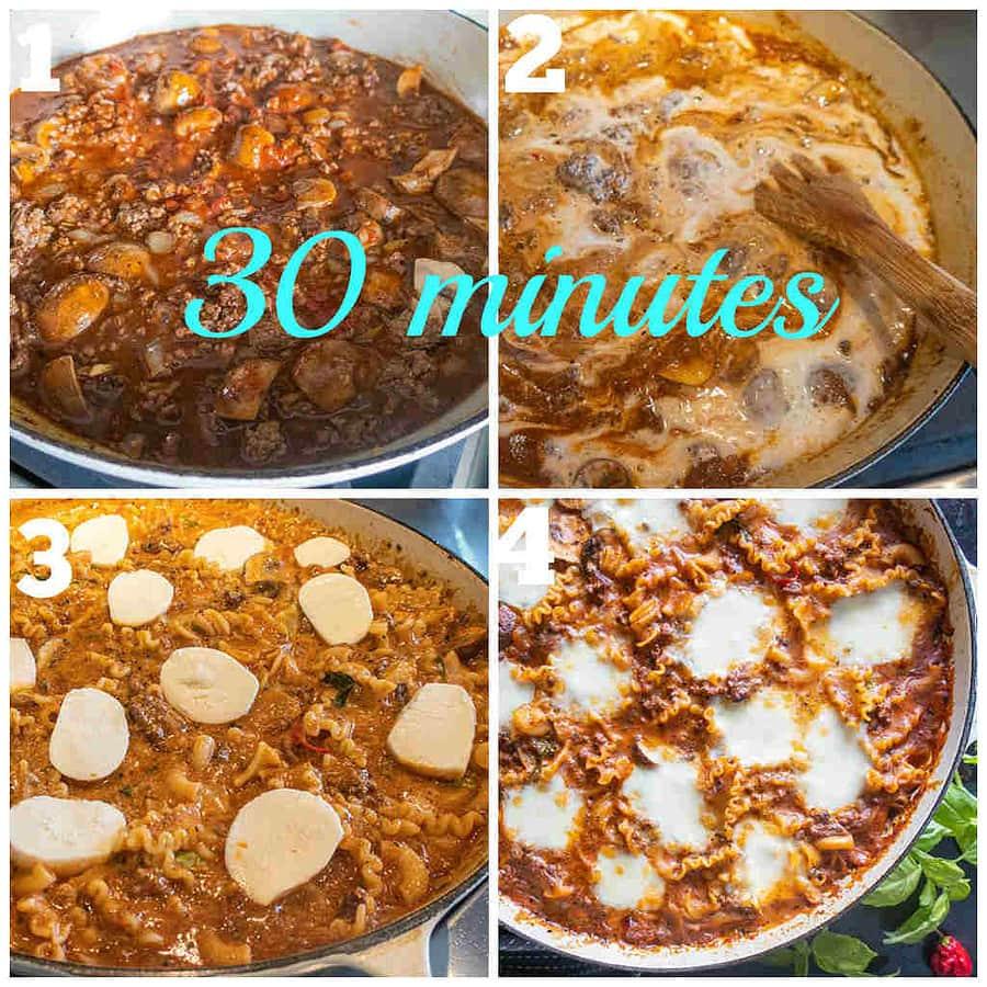 gluten-free stove top lasagna