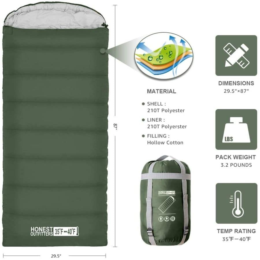 Honest outfitters sleeping bag - photo 4