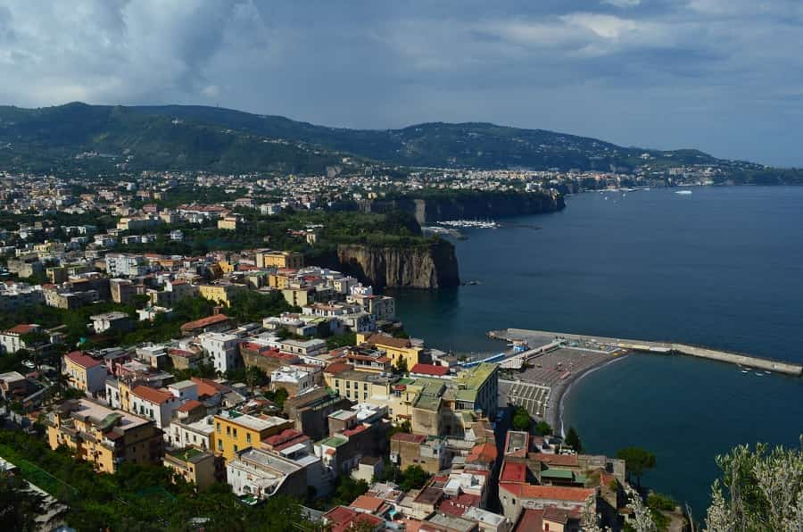 View from Sorrento Italy of Bay of Naples