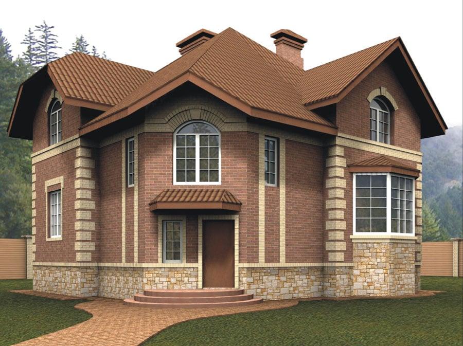 кирпичные дома проект