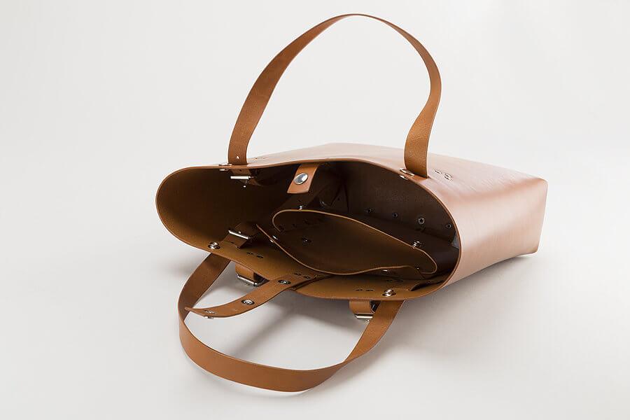 Skórzana torba rowerowa damska