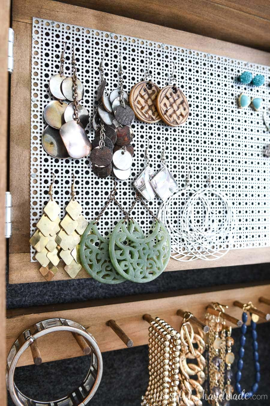 Diy Wall Jewelry Organizer Houseful Of Handmade