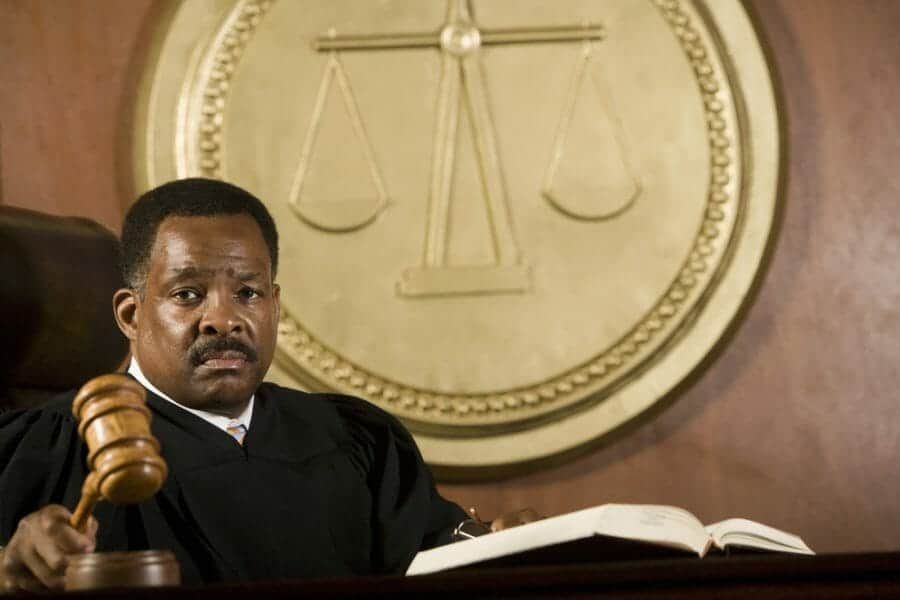 Close up of a judge on the bench, presdiding over a case that used unbundled legal services.