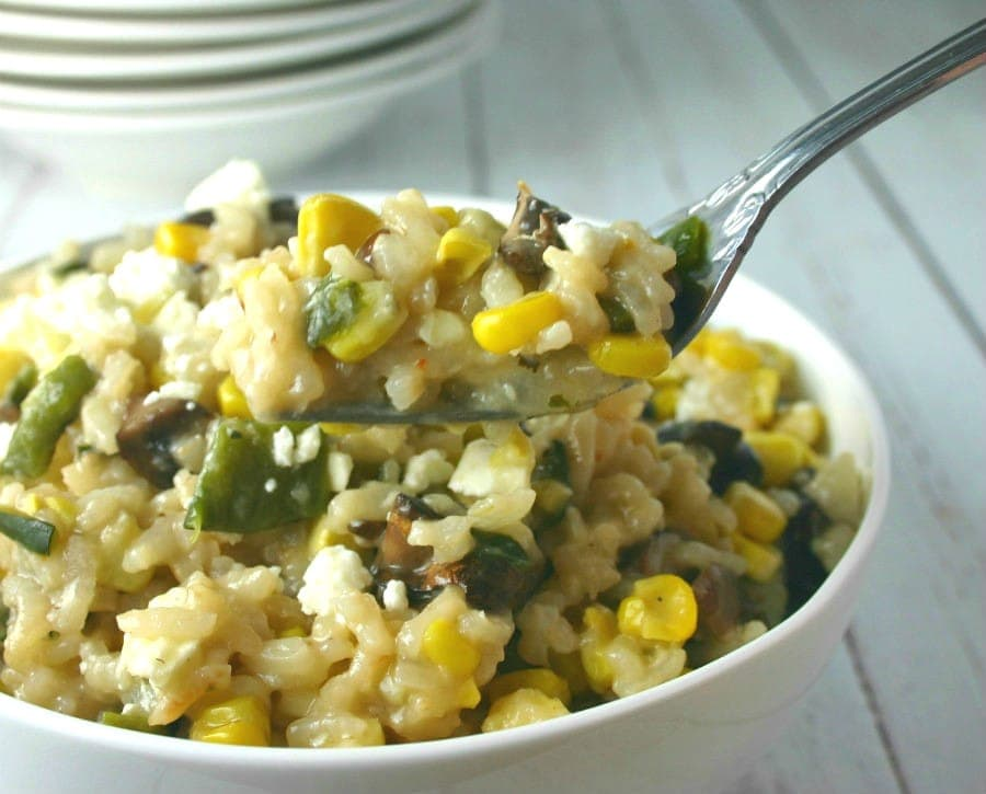 Grilled Corn and Mushroom Risotto | Life, Love, and Good Food