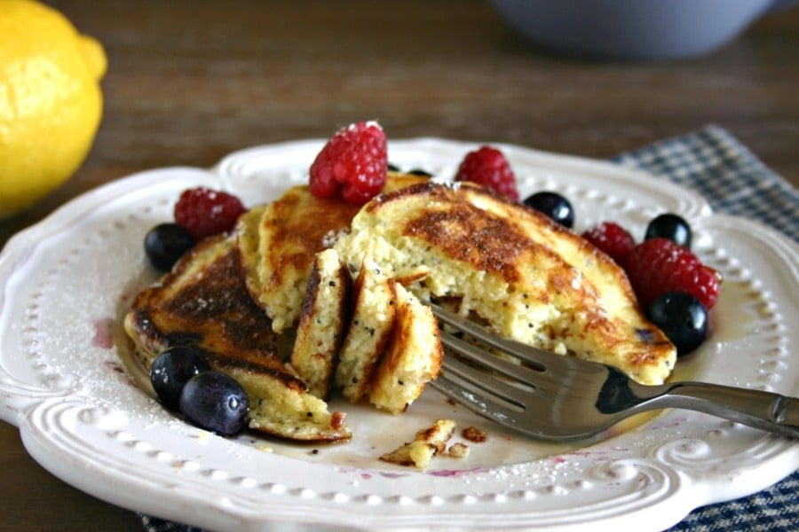 Lemon Poppyseed Ricotta Pancakes | Life, Love, and Good Food