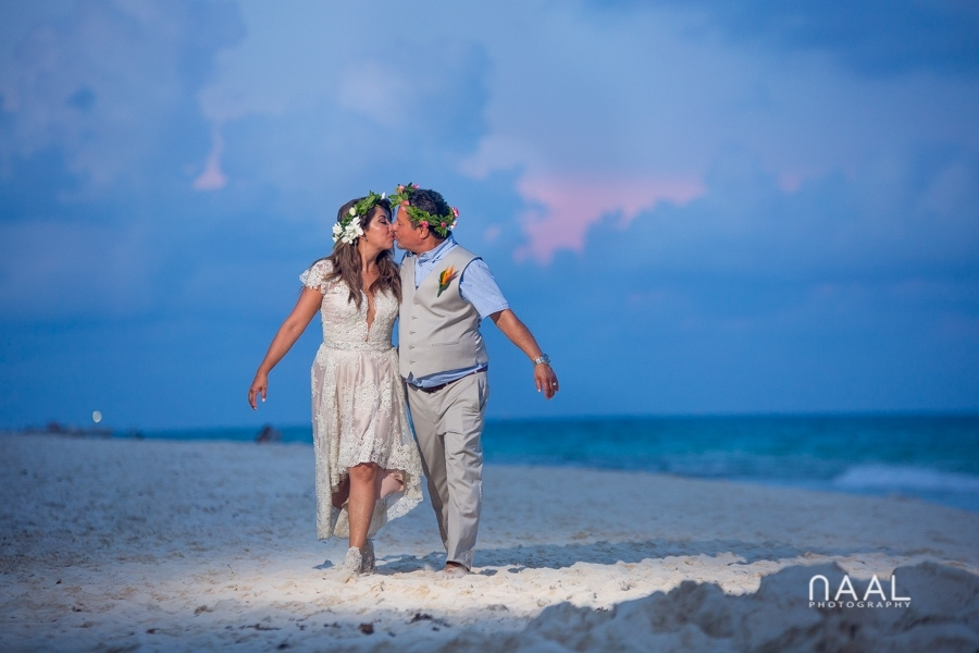 Boho Playacar Villa Beach Wedding by Naal Wedding Photography