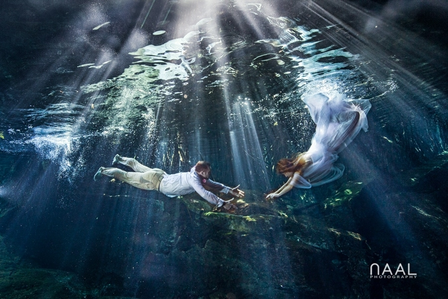 Cenote underwater Trash the Dress