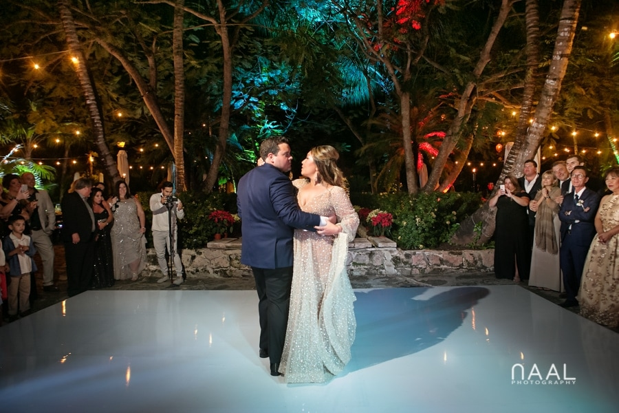 First dance.Bride at the beach. Belmond Maroma by Naal Wedding Photography