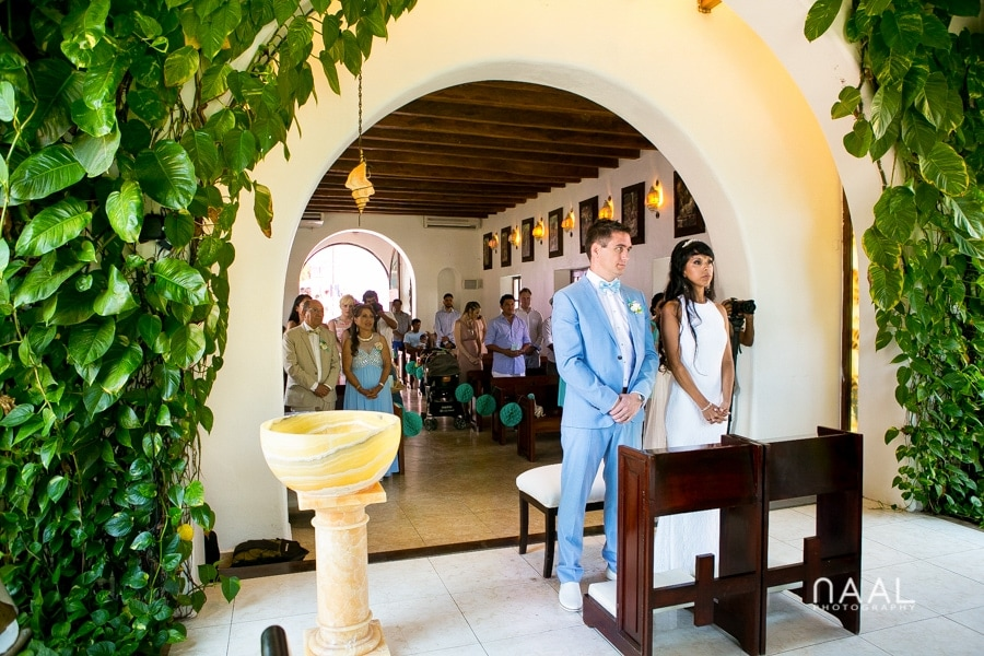 Nuestra señora church Playa del Carmen Naal Wedding Photography