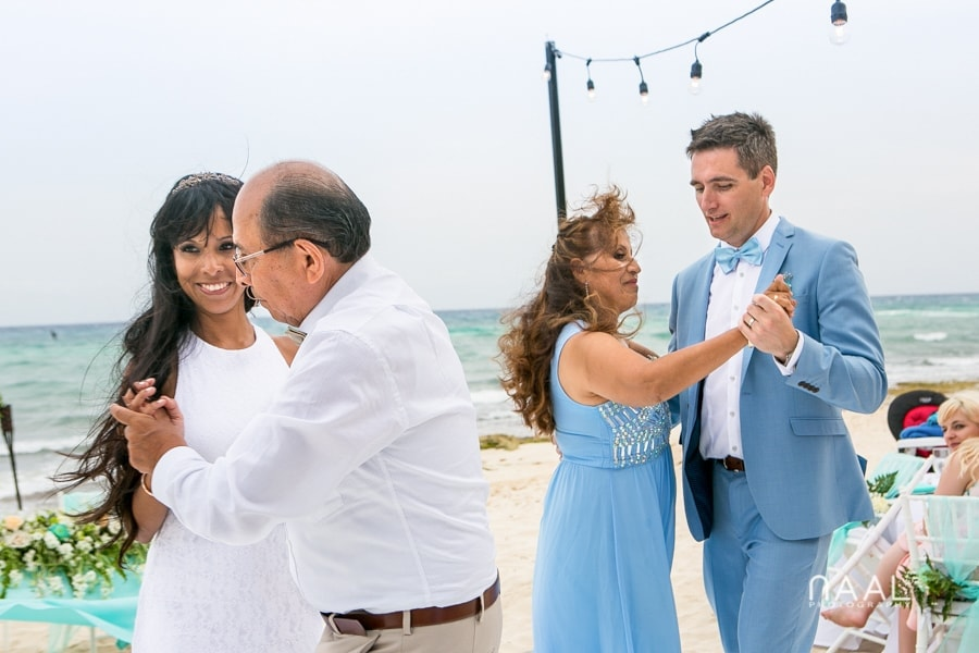 Maribel & Steve -  - Expected beach destination wedding at Le Reve 57