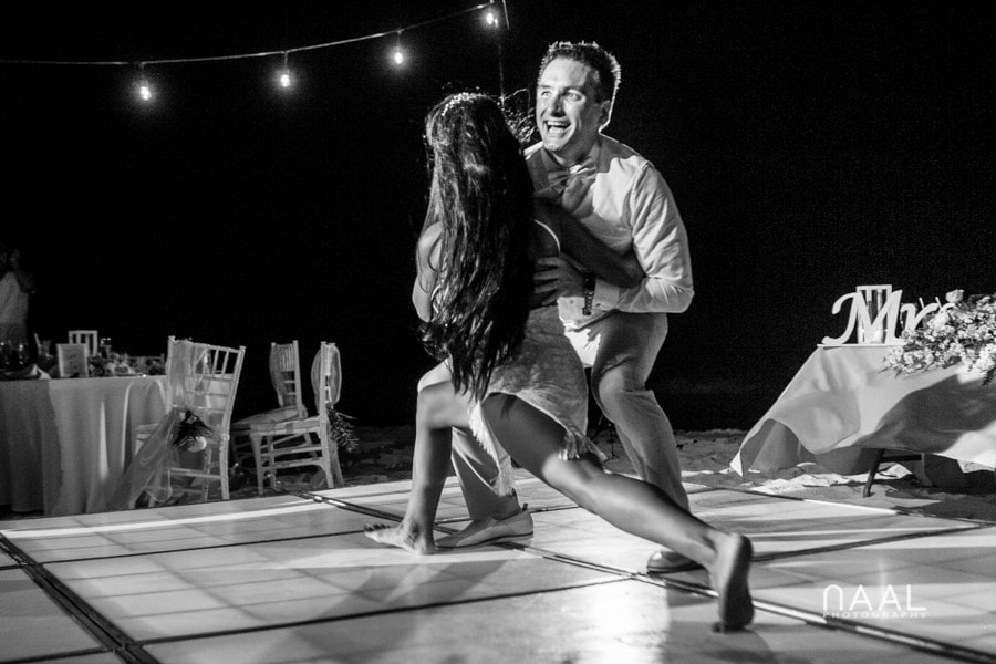 Maribel & Steve -  - Expected beach destination wedding at Le Reve 62