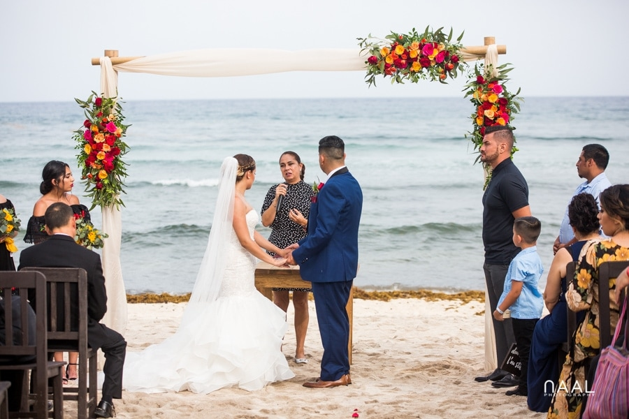Blue Venado Beach Club beach wedding Naal Wedding Photography