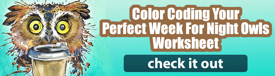Color Coding Your Perfect Week Worksheet