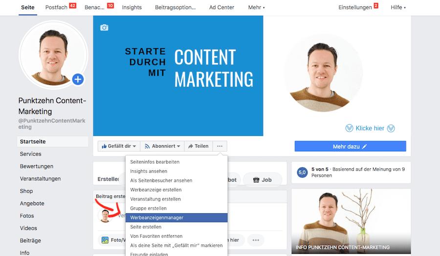 Facebook Veranstaltung Werbeanzeigenmanager