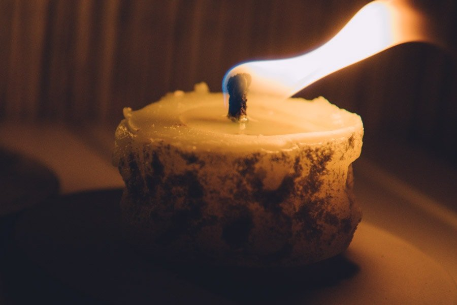 Kerzen selber machen Sandkerzen