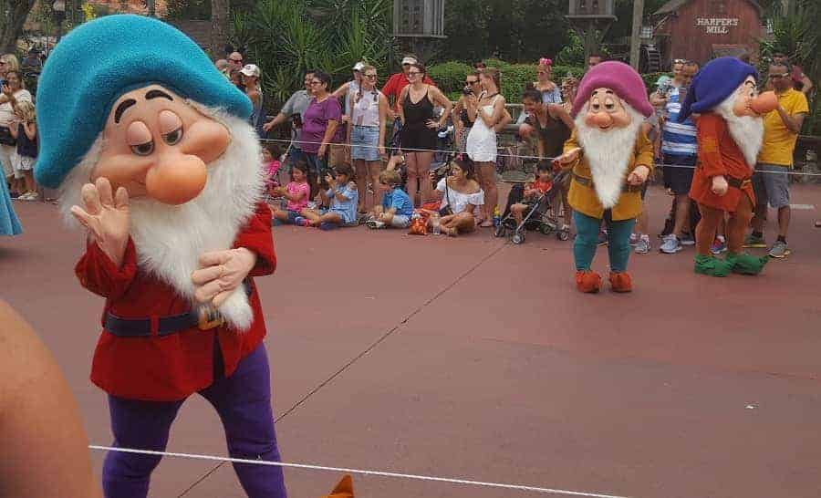 Getting up close with Disney parade characters