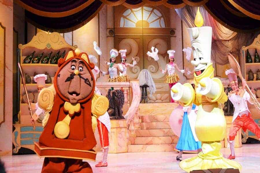 Beauty & the Beast Characters on Stage