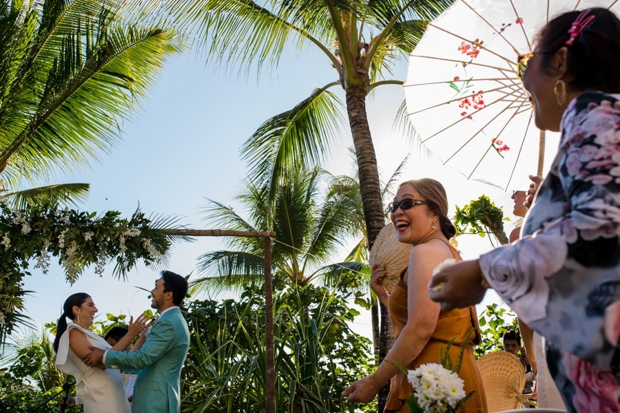 A wedding ceremony by Shangri-La wedding photographer Julian Abram Wainwright