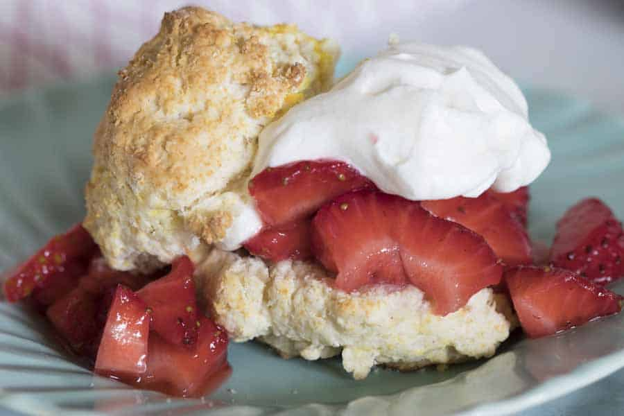 Is there anything more delicious than homemade strawberry shortcake?! I've lightened up this classic and tasty dessert to make it Weight Watchers friendly! I love making all of my favorite recipes a little more healthy. This one in particular is a delicious treat (and one of my person favorites)!