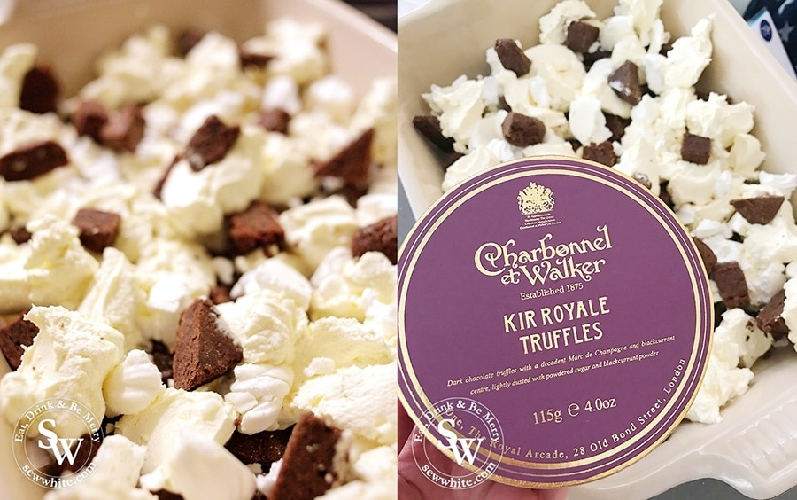 Using Charbonnel et Walker Kir Royale truffles for the Black Forest Truffle Eton Mess adds an extra flavour to the finished dessert.