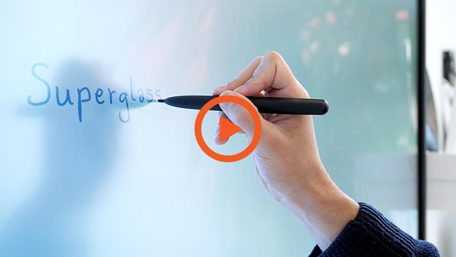 la vidéo d'utilisation de l'écran interactif SuperGlass Haute Précision SuperGlass