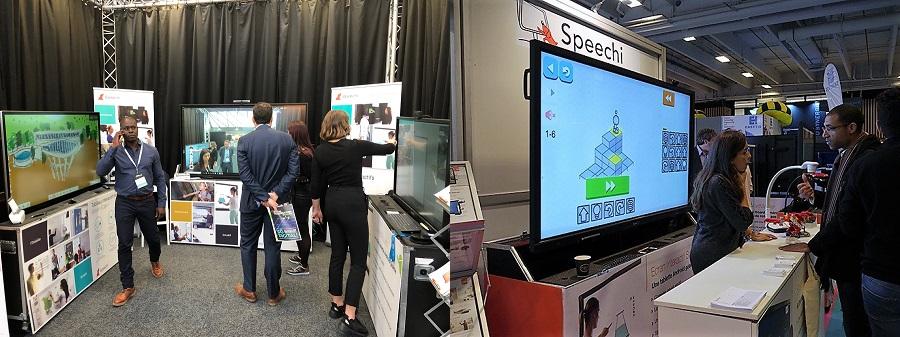 utiliser un écran interactif sur votre stand