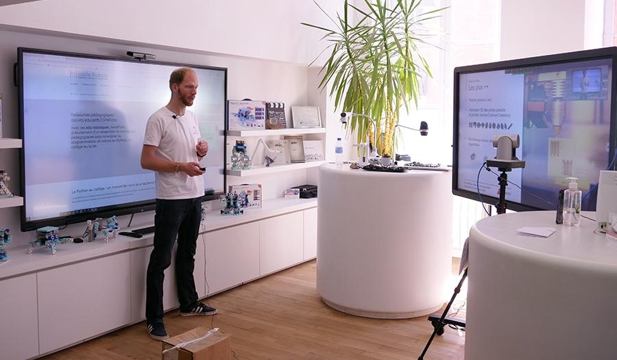 webinar speechi sur écran interactif