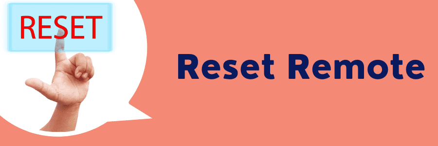 how to reset directv remote