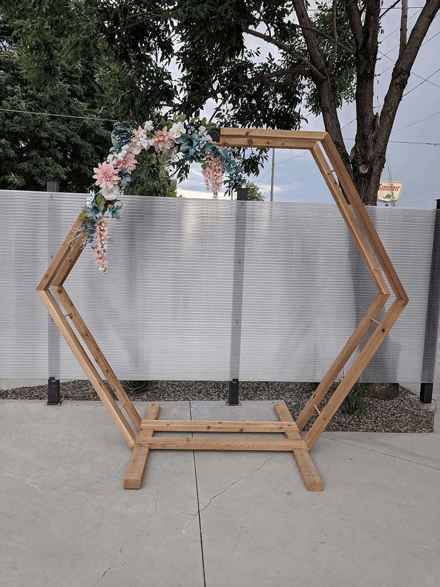 Denver Hexagon Wedding Arch for rent