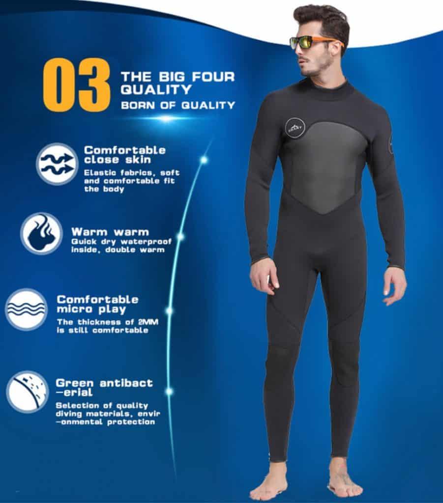 AliExpress Wetsuit for Women Men Onepiece Kite Surfing Snorkeling Swimwear Swimsuit Scuba Diving One-Pieces Suit Beach Sbart 3mm 1