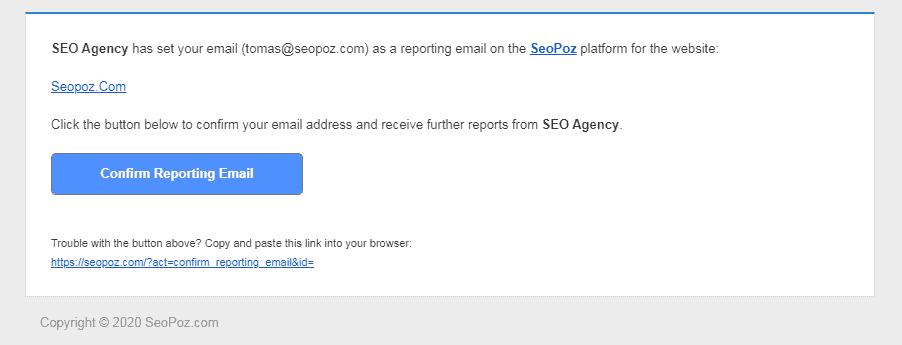 Confirm White label reports